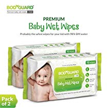 Get BodyGuard Premium Paraben Free Baby Wet Wipes with Aloe Vera – 144 Wipes at Rs 183 | Amazon Of