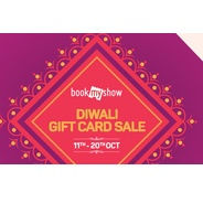 Get Bookmyshow Diwali Gift Card Sale - Flat 15% OFF On Gift Cards | Bookmyshow Offer
