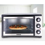 Get Borosil Prima 19 Liter 1300 Watt Convection Oven Toaster Griller (OTG), Shiny Silver Body at Rs