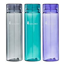 Get  Brand – Solimo Water Bottle, 1000 ml, Set of 3 (Grey, Green, Purple) at Rs 309 | Amazon Offer