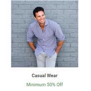 Get Casual Wear Minimum 50% OFF | Flipkart Offer
