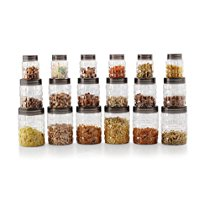 Get Cello Checkers Plastic PET Canister Set, 18 Pieces, Clear at Rs 630   Amazon Offer