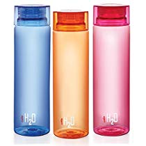 Get Cello H2O Bottle , 1 Litre, Set of 3, Colour May Vary at Rs 303 | Amazon Offer