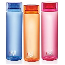 Get Cello H2O Unbreakable Bottle , 1 Litre, Set of 3, Colour May Vary at Rs 369 | Amazon Offer