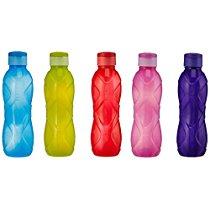 Get Cello Rugby Flip Polypropylene Bottle, 1 Litre, Set of 5, Multicolor at Rs 284 | Amazon Offer
