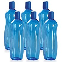 Get Cello Sipwell PET Bottle Set, 1 Litre, Set of 6, Blue at Rs 238   Amazon Offer