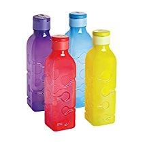 Get Cello Tango Polypropylene Bottle Set, 1 Litre, Set of 4, Assorted at Rs 312   Amazon Offer
