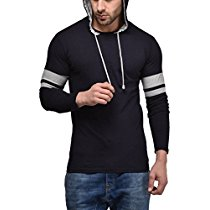 Get Cenizas Men's Hooded Full Sleeves Dual Tone Round Neck Tshirt / T-Shirt at Rs 359 | Amazon Off