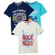 Get Cherokee Boys Plain Regular Fit T-Shirt (Pack of 3) at Rs 449 | Amazon Offer