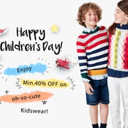 Get Childrens Day - Kids Clothing & Accessories Minimum 40% OFF | Myntra Offer