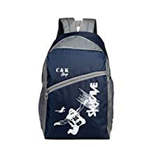 Get Chris & Kate Polyester 26 Ltr Navy Blue-White School Backpacks at Rs 379 | Amazon Offer