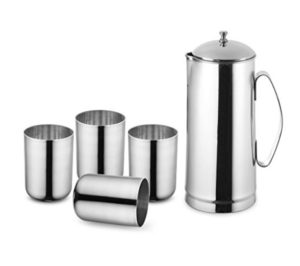 Get Classic Essentials 2000ml Jug + 250ml Glass Set of 4      at Rs 495 | Amazon Offer
