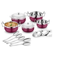 Get Classic Essentials Stainless Steel Handi Set of 5 With 5 Serving Spoon at Rs 649 | Amazon Offer