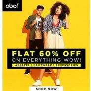 Get Clothing & Accessories Flat 60% OFF | Abof Offer