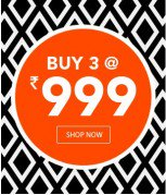 Get Clothing, Footwear & Accessories Buy 3     at Rs 999 | Jabong Offer