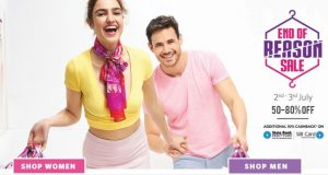 Get Clothing, Footwear & Accessories Min 70% off+ 10% Cashback   at Rs 89 | Myntra Offer