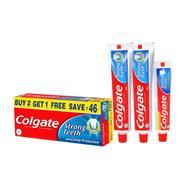 Get Colgate Dental Cream Toothpaste - 200 g (Pack of 2) with 1 Free Dental Cream - 100 g at Rs 143 |