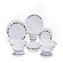 Get Corelle Livingware Spring Pink Dinner Set, 57-Pieces at Rs 13423 | Amazon Offer