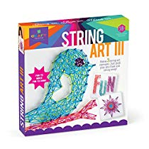 Get Craft-tastic – String Art Kit – Craft Kit Makes 3 Large String Art Canvases – Bird Edition