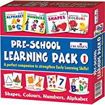 Get Creative Educational Aids 1007 Pre – School Learning Pack 1 (Shapes, Colours, Numbers and Alph