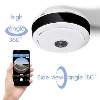 Get D3D Wireless Fisheye Vision 360° Panoramic IP CCTV Security Home Surveillance Camera at Rs 3657