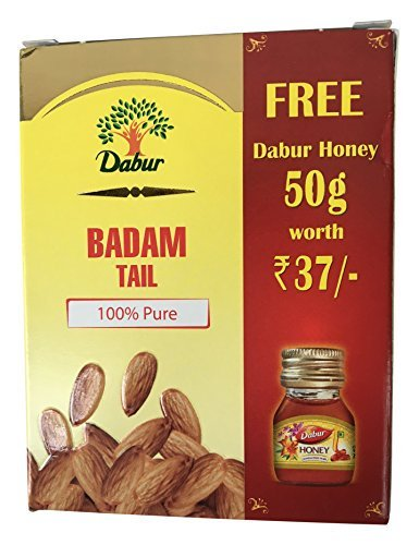 Get Dabur Badam Tail – 50 ml with Free Dabur Honey – 50 g at Rs 140   Amazon Offer