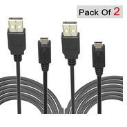 Get DAHSHA 2 Pack 1 Feet Short Length Micro USB Power Bank Charging Sync Data Cable at Rs 149 | Amaz