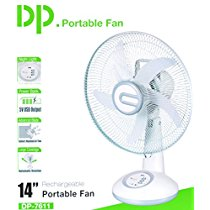 Get Dazzelon 14 Inch Blade Rechargeable Table Fan Ac Dc With L at Rs 3399 |  Amazon Offer