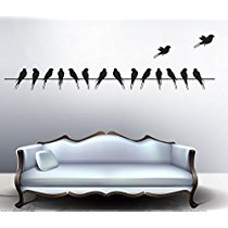 Get Decals Design 'Beautiful Long Tail Birds on Wire' Wall Sticker at Rs 109 | Amazon Offer