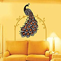 Get Decals Design 'Beautiful Peacock on Vine' Wall Sticker at Rs 129 | Amazon Offer