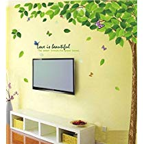 Get Decals Design 'Bestselling Leaves Tree' Wall Sticker (PVC Vinyl, 90 cm x 60 cm, Multicolour)