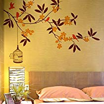 Get Decals Design 'Branch Flowers and Cage' Wall Sticker (PVC Vinyl, 90 cm x 60 cm) at Rs 119 |