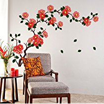 Get Decals Design 'Floral Branch Antique Flowers' Wall Sticker at Rs 109 | Amazon Offer