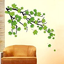 Get Decals Design 'Green Autumn Leaves Branch' Wall Sticker at Rs 109 | Amazon Offer
