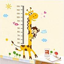 Get Decals Design 'Kids Giraffe Height Chart' Wall Sticker (PVC Vinyl, 50 cm x 70 cm),Multicolou