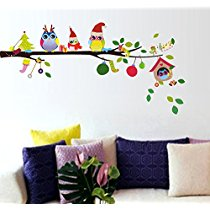 Get Decals Design 'Merry Christmas Winter Owls' Wall Sticker at Rs 109 | Amazon Offer