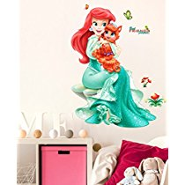Get Decals Design Pretty Princes with Cute Little Cat PVC Vinyl Wall Decal at Rs 109 | Amazon Offer
