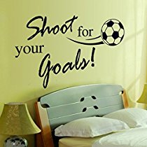 Get Decals Design 'Quote Sports Football Shoot for your Goals' Wall Sticker at Rs 109 | Amazon O