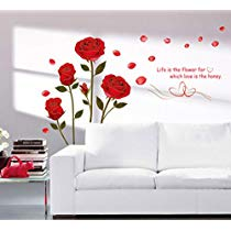 Get Decals Design 'Romantic Rose Flowers' Wall Sticker at Rs 109 | Amazon Offer