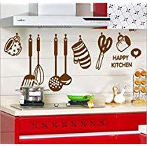 Get Decals Design 'Stylish Kitchen' Wall Sticker (PVC Vinyl, 60 cm x 45 cm, Brown) at Rs 99 | Am
