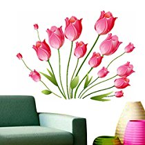 Get Decals Design 'Tulips Bouquet' Wall Sticker at Rs 109 | Amazon Offer