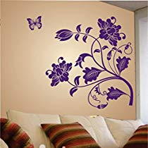 Get Decals Design 'Vine Flower' Wall Sticker (PVC Vinyl, 50 cm x 70 cm, Purple) at Rs 99 | Amazo