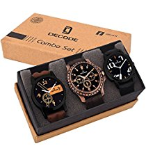 Get Decode Combo of 3 Fashionable Multicolor Dial Mens Watches at Rs 539 | Amazon Offer
