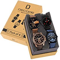 Get Decode Combo of 4 infinity 7800 Multicolor Dial Men's and Boys Watches at Rs 599 | Amazon Offe