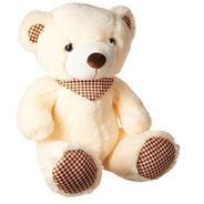 Get Dimpy Stuff Bear with Scarf, Cream (50cm) at Rs 427 | Amazon Offer