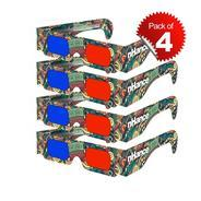 Get DOMO nHance RB3B Anaglyph 3D Video Passive Cyan and Magenta Red & Blue Paper 3D Glasses - Pack o