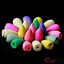 Get eCraftIndia Backflow Plant Essential Oil and Fragrant Matrix Incense Cone Set (1 cm x 1 cm x 3 c