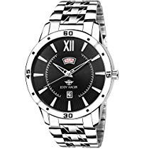 Get Eddy Hager Black Day and Date Men's Watch EH-212-BK at Rs 399 | Amazon Offer