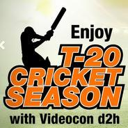 Get Enjoy T-20 Cricket Season With VIdeocon d2h Rs.1.5 Per Day | Videocond2h Offer