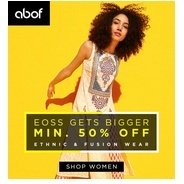 Get Ethnic & Fusion Wear Minimum 50% OFF | Abof Offer